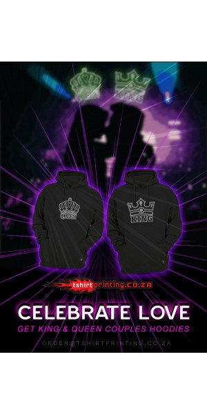 **SPECIAL** KING&QUEEN COUPLE 2X Hoodie 1xKING + 1xQUEEN HOODIES > Bundle