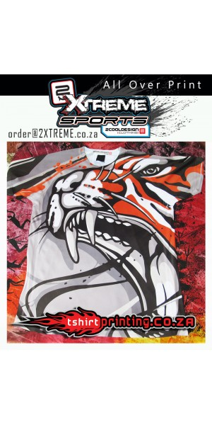 **ONLY 1 MADE*** Tiger Styles Sports T-shirt All Over Print, Gym Wear, Casual Wear