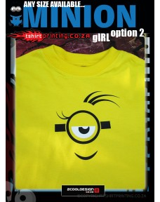 Girl Minion Shirt option 2