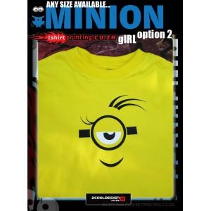 Girl Minion Shirt option 2