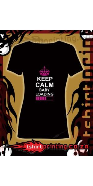 Keep Calm Baby loading t-shirt