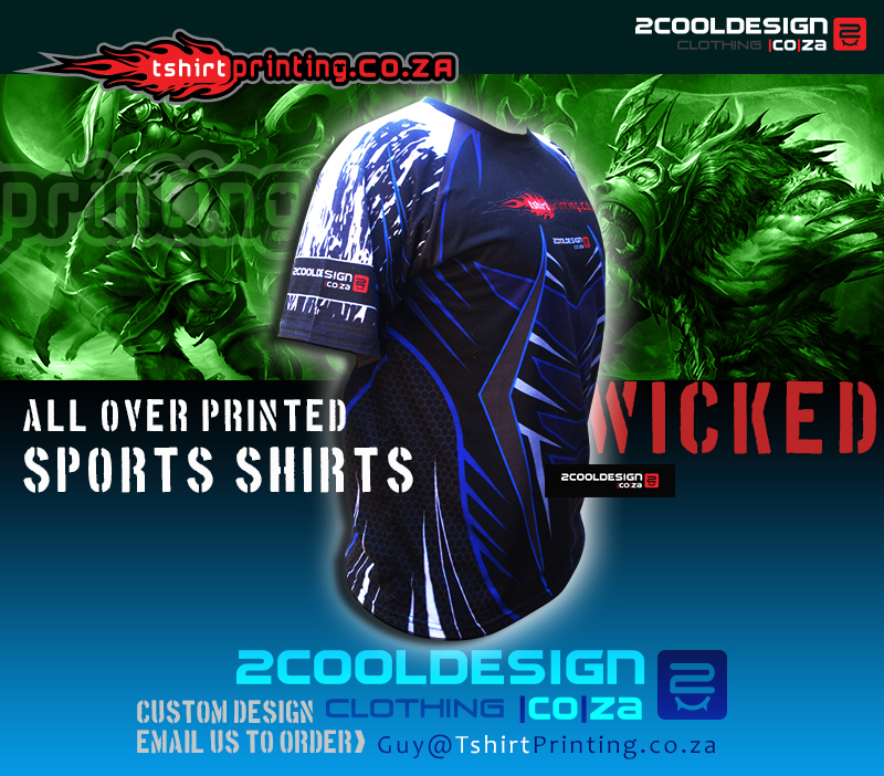 Tshirt printing south africa for Cool sports t shirt designs