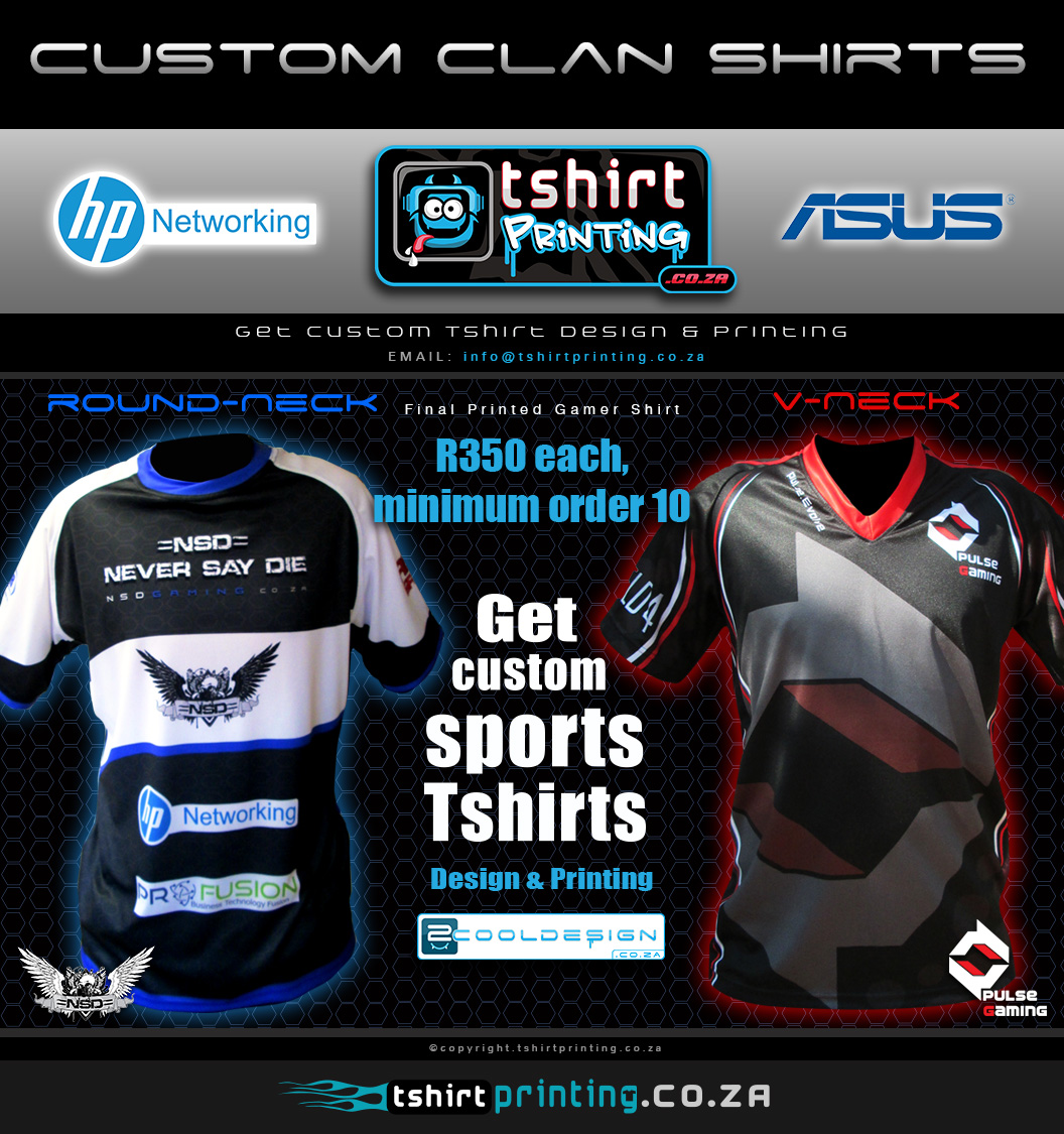 Custom Clan Gamer Shirt Printing T Shirt Printing Solutions