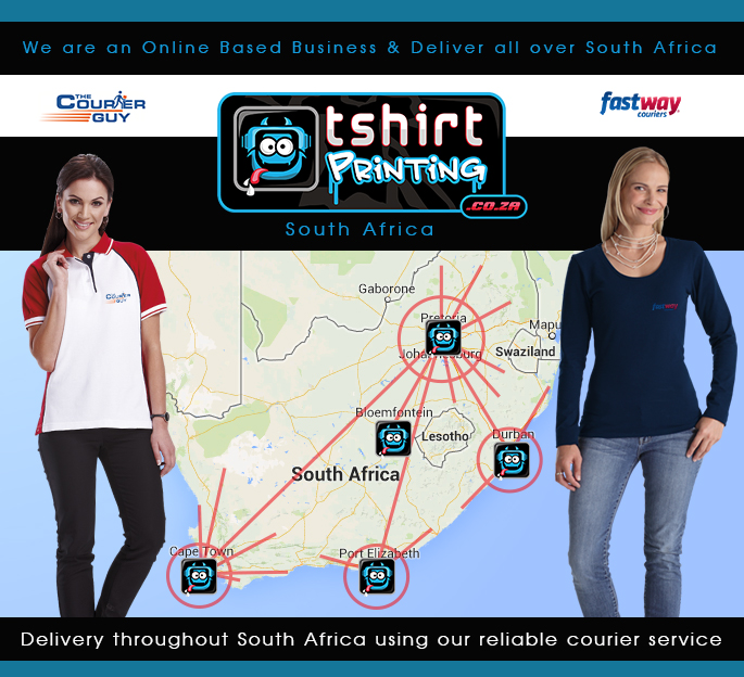 online based tshirt printing south africa, we deliver through out south africa, thecourierguy, tshirtprinting.co.za