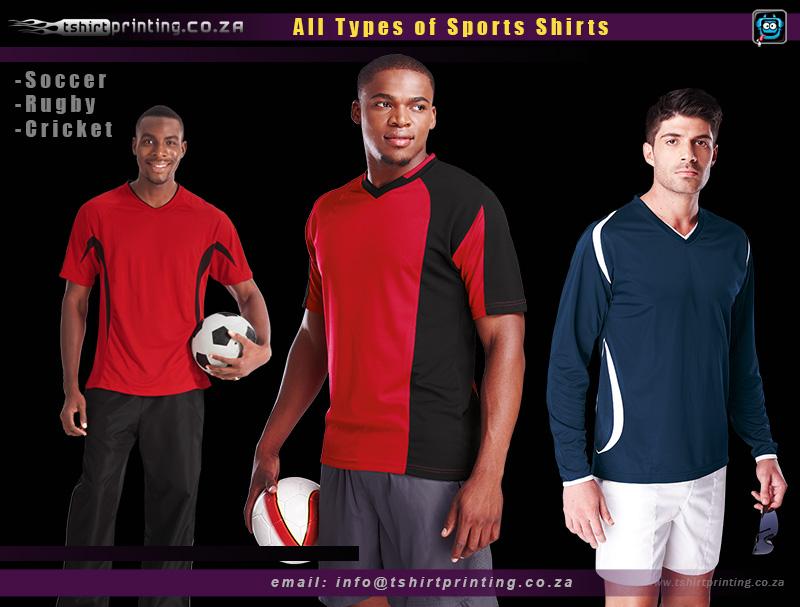 Sports tshirts, Soccer,Rugby,Cricket,gaming shirt printing