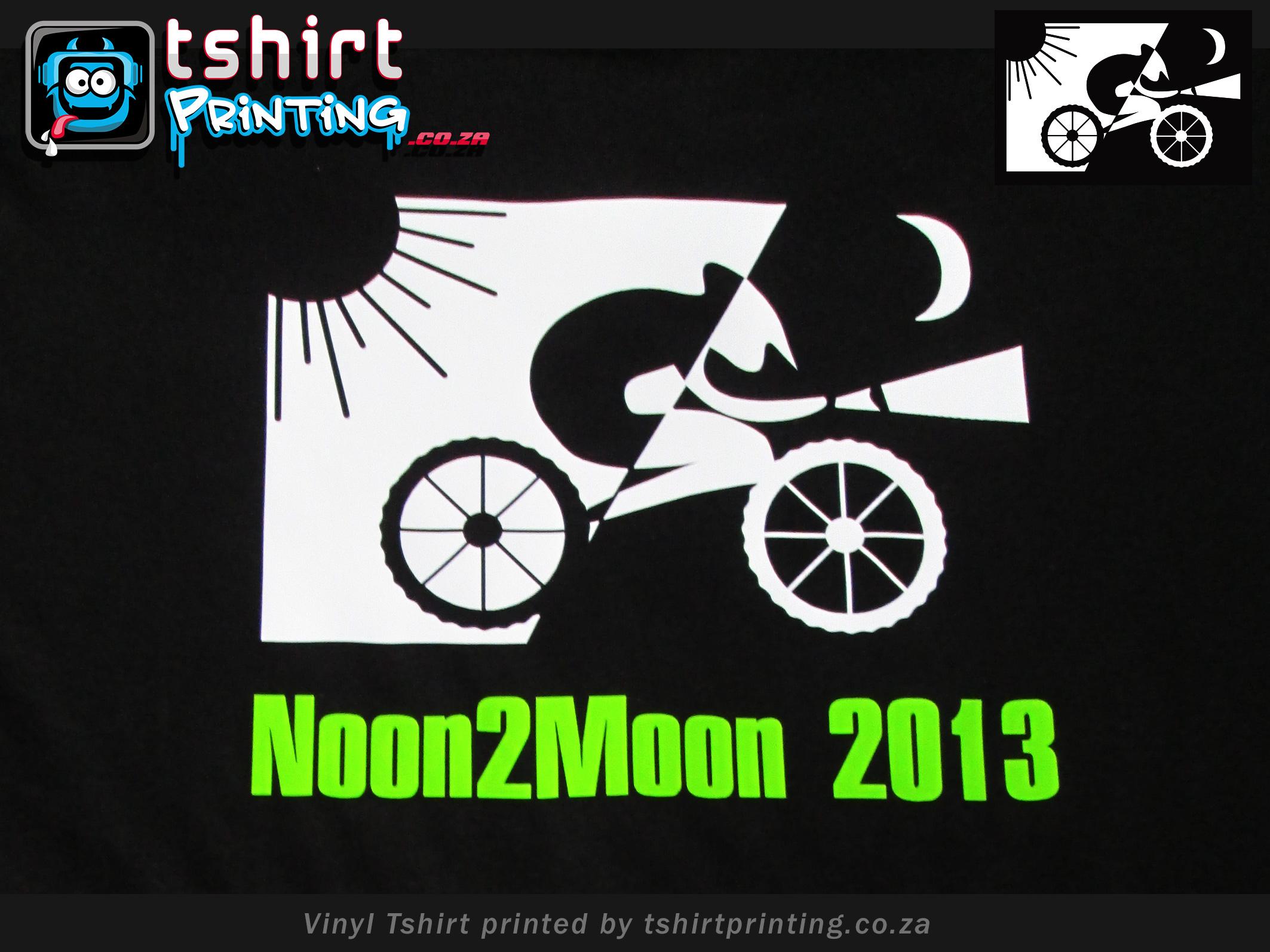 mountain bike tshirts printed, vinyl lumo t-shirt effect