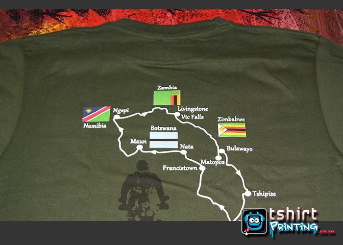 military green tshirt printed
