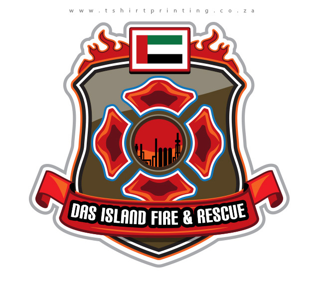 UAE-fire-fighter-badge-embroidery-design-logo-design