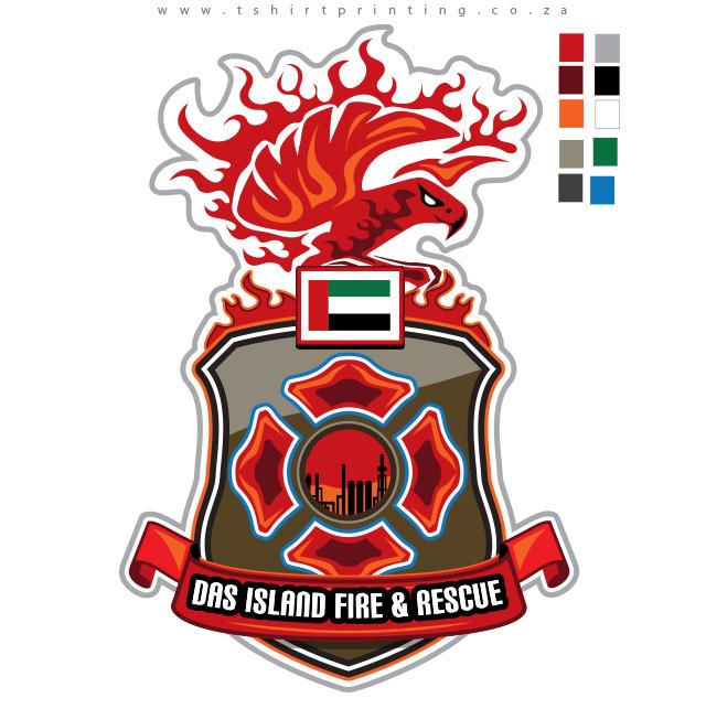 Fire Fighter Badge Logo