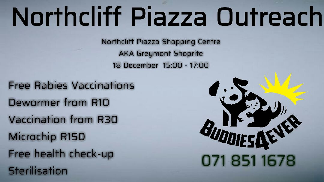 free rabies vaccinations Johannesburg