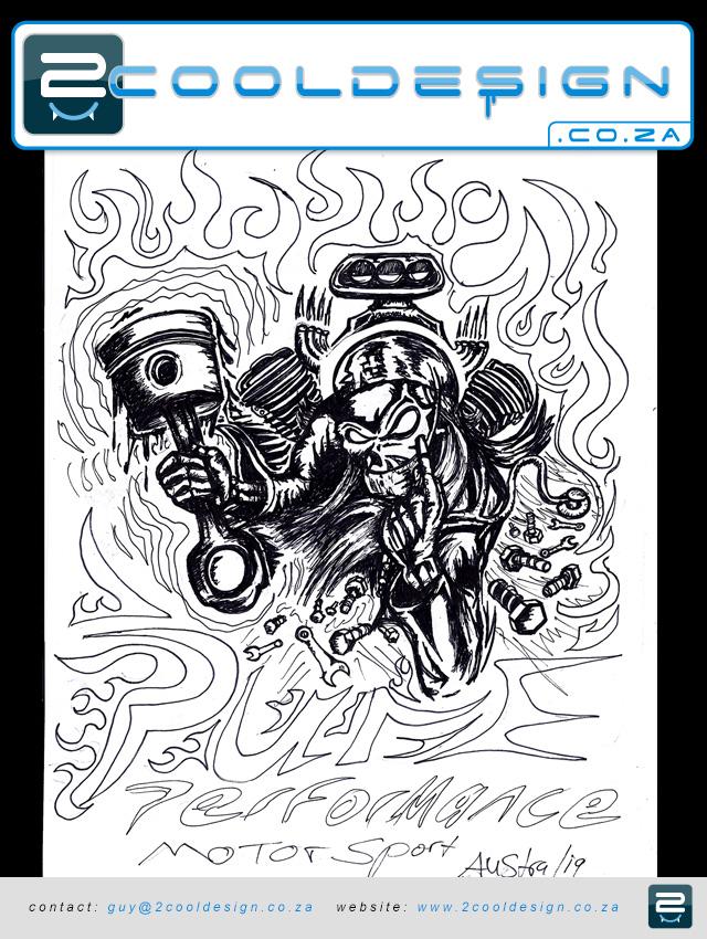 Skull Piston Drawing Sketch Drawing of Doc Piston