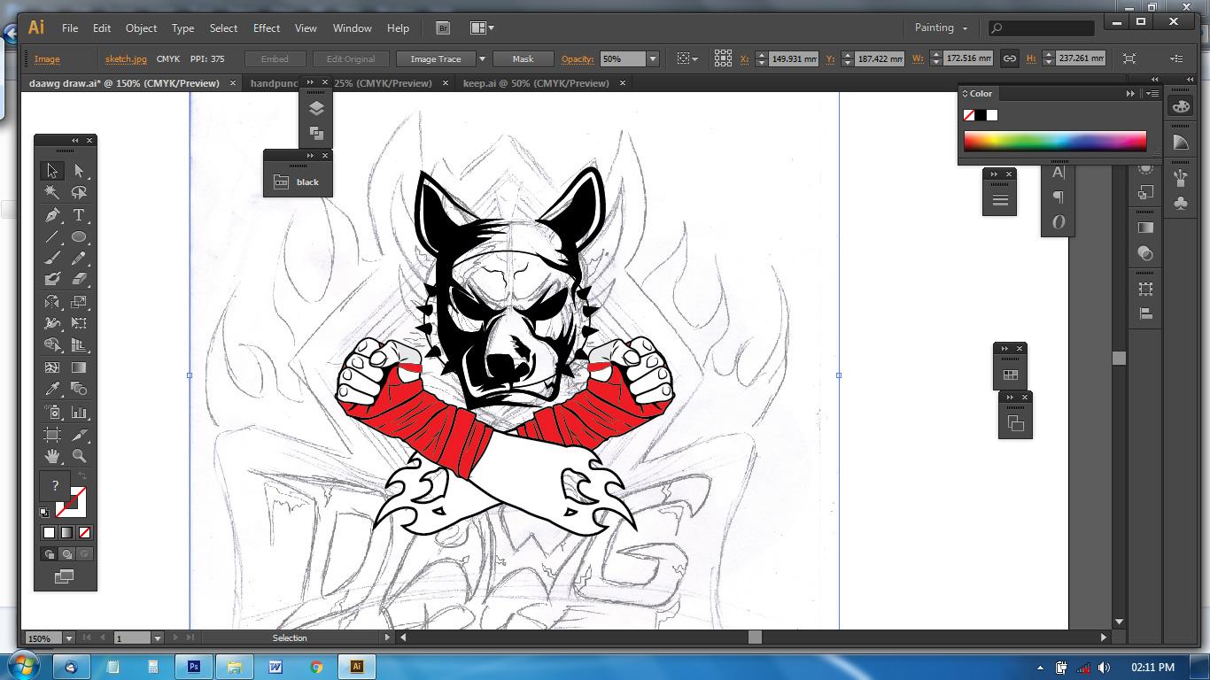 vector illustration of mma logo