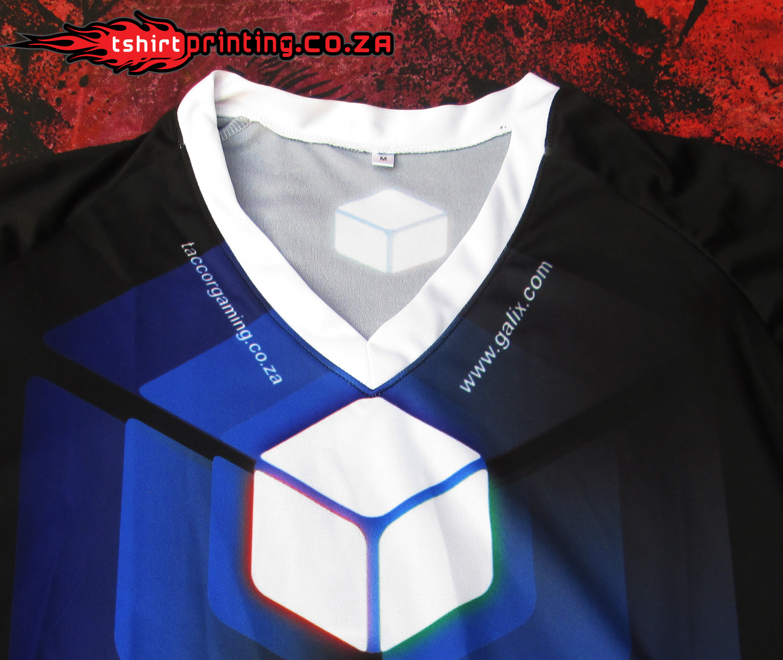 Close Up Gamer Shirt V Neck Sublimation Printed Shirt T