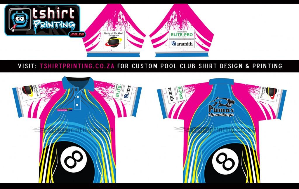 8ball pool club custom shirts t shirt printing