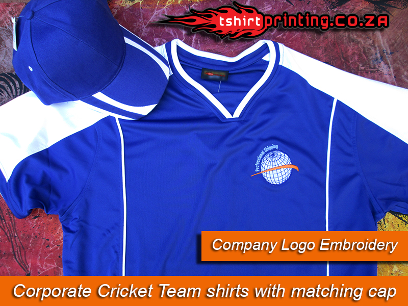 Embroidery service for Company logo t shirt printing