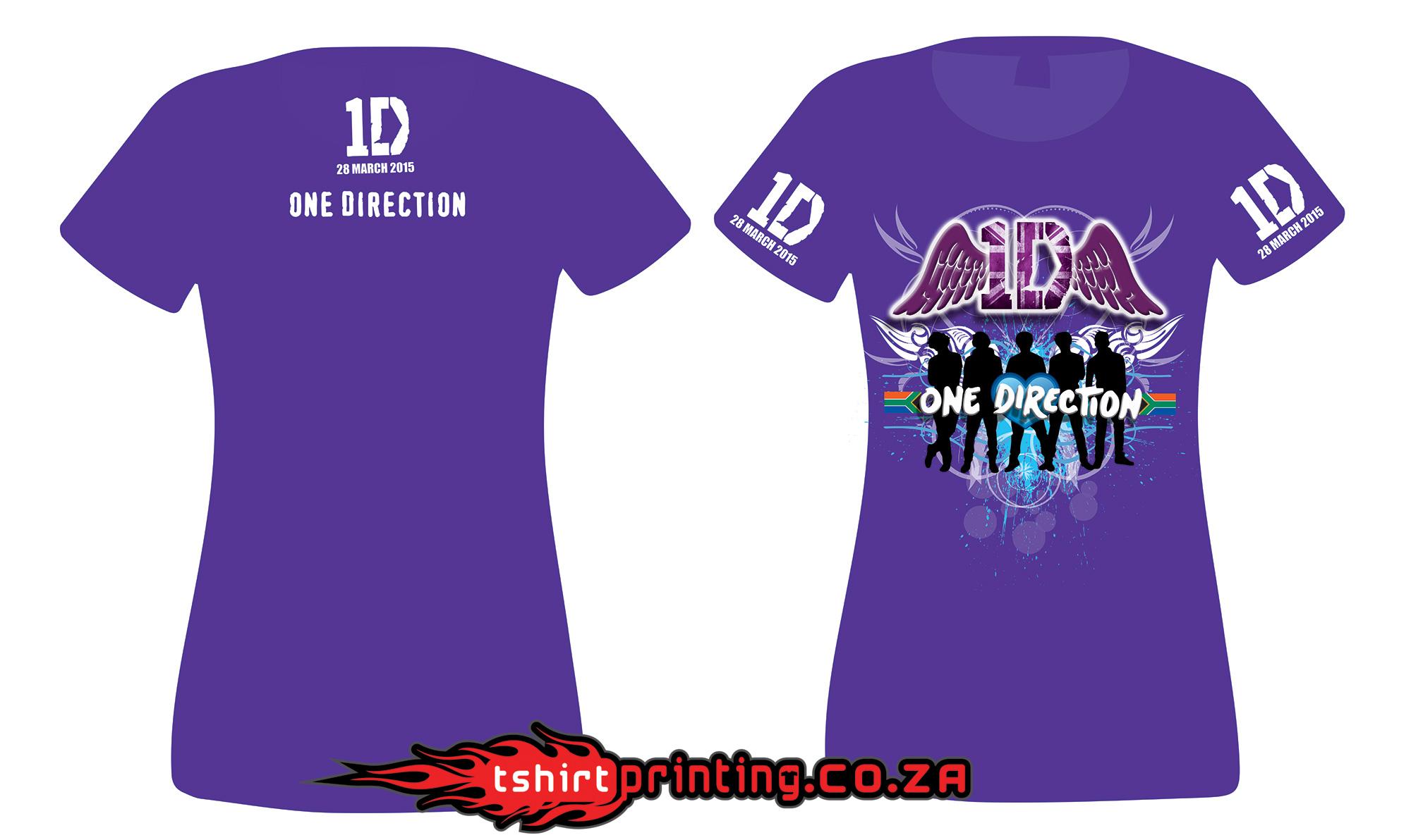 1direction custom fan shirt design t shirt printing for Custom shirt printing online