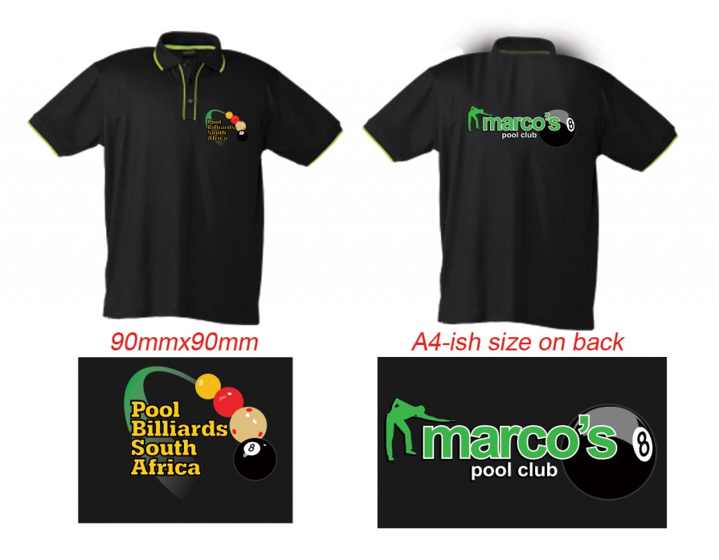 Snooker club shirts for Company t shirt printing