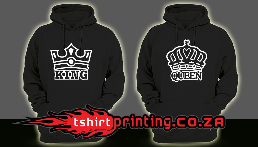 KING-QUEEN-HOODIES Custom Design by tshirtprinting.co.za
