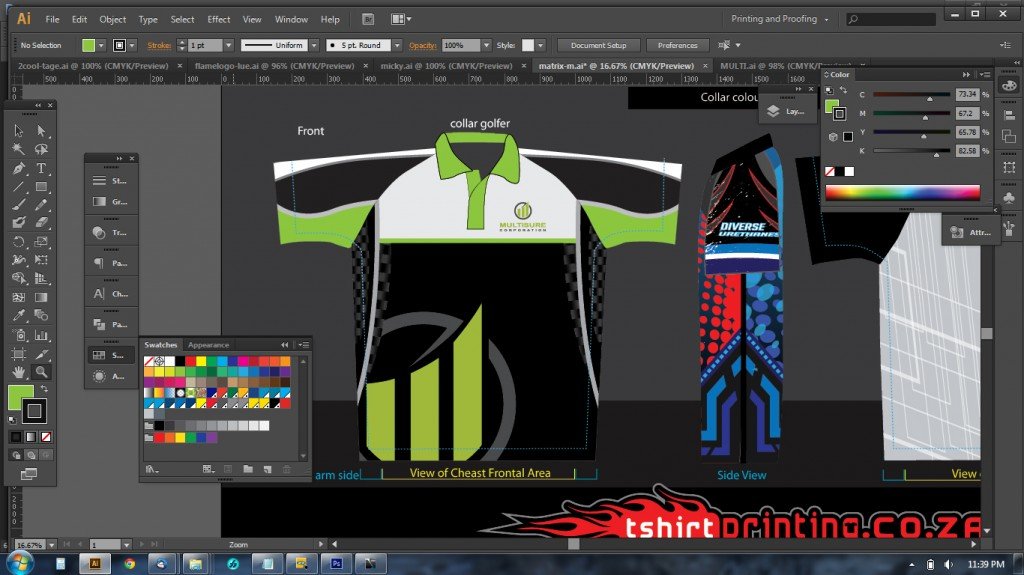 All over printed golf shirt idea for T shirt printing for non profit organizations