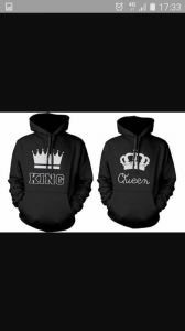 something like this king queen hoody