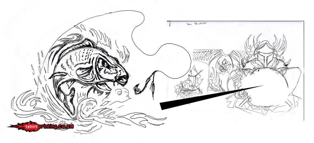 carp-fish-sketch-for-shirt-design