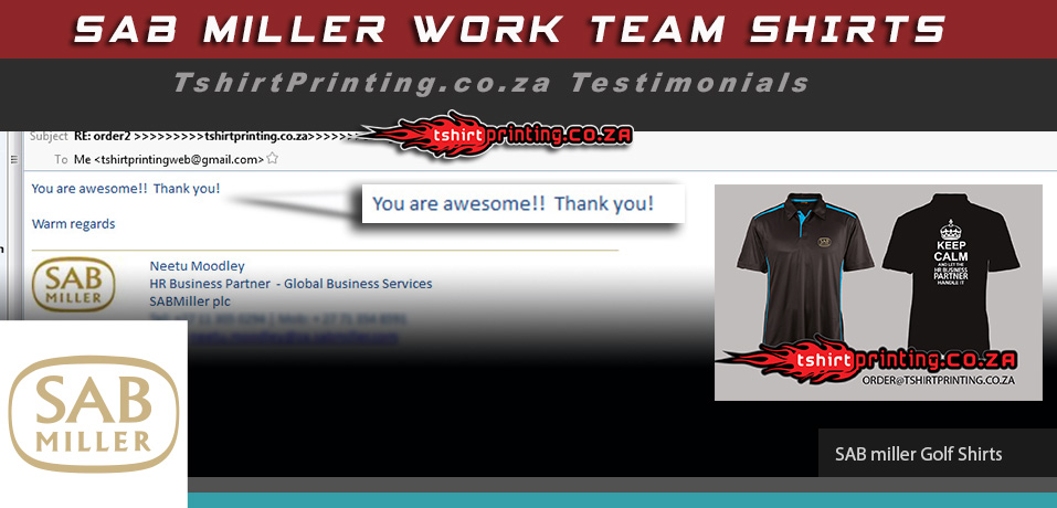 Testimonials online printing review for Work t shirt printing