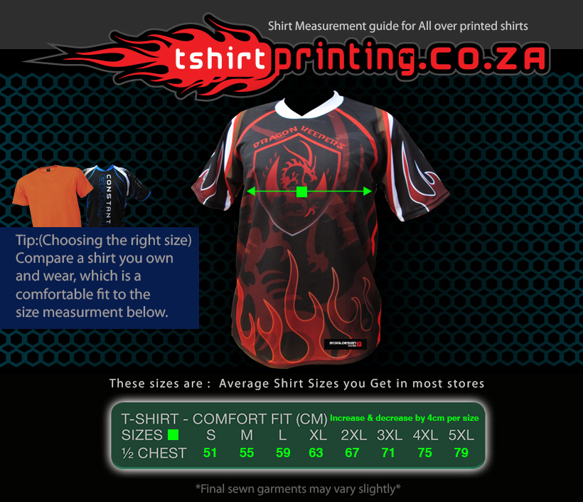 tshirtprinting co za size chart