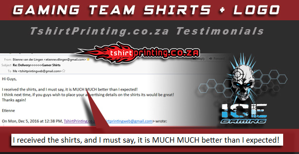 Testimonials online printing review for T shirt company reviews