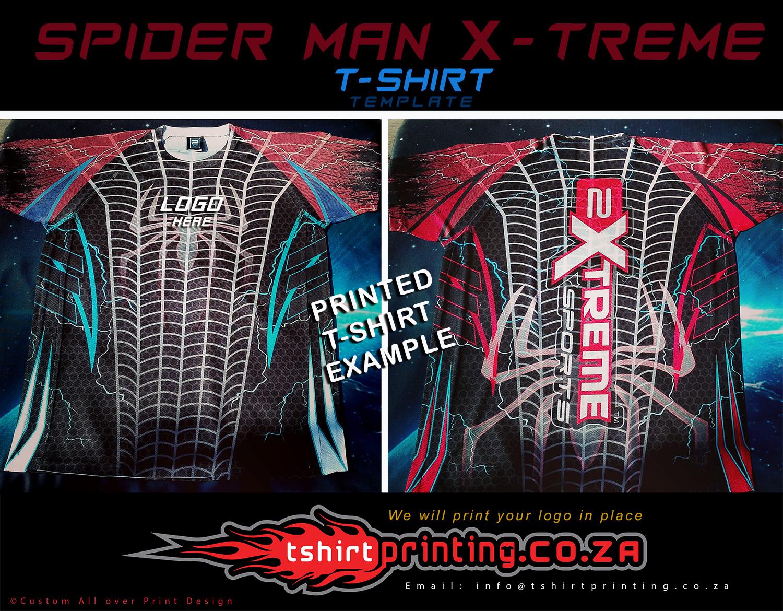 spider-man-X-treme-t-shirt-template-print-logo