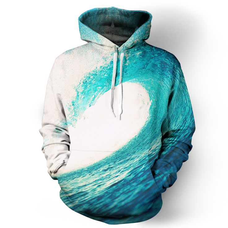 hoodie with wave