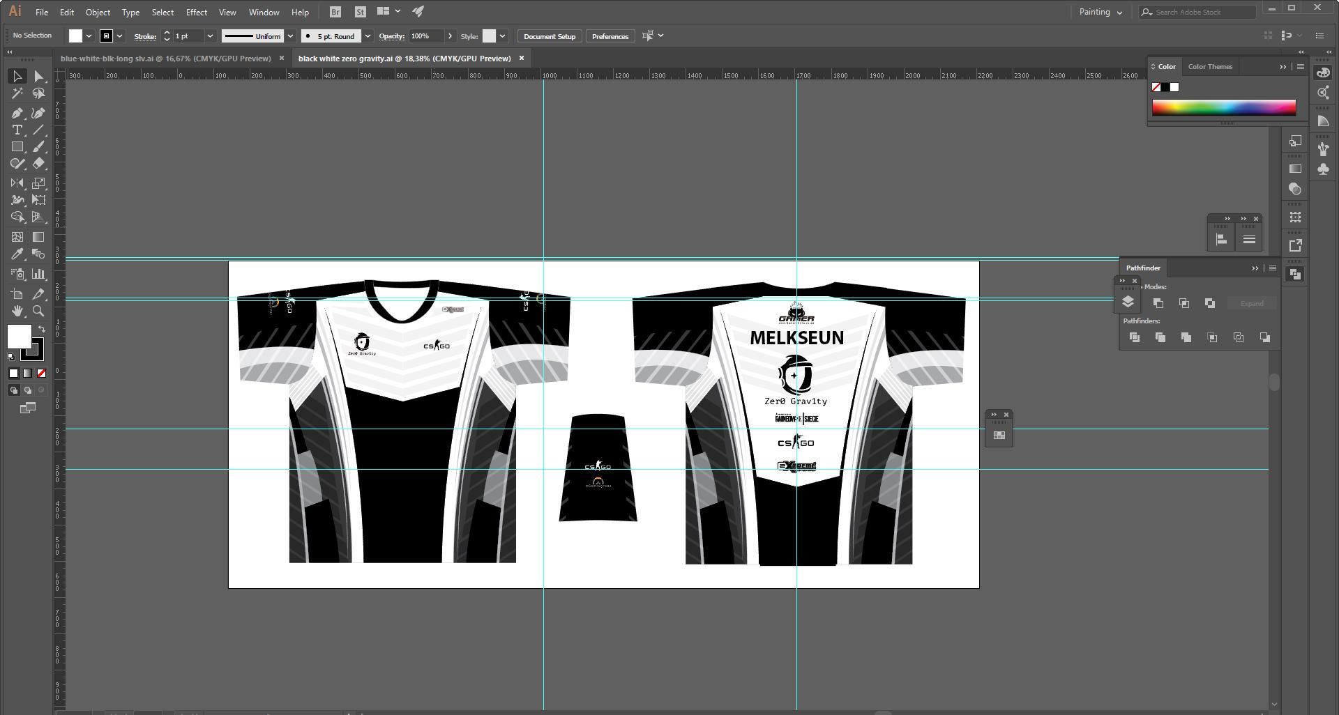 gamer-shirt-black-and-white-template-design 20